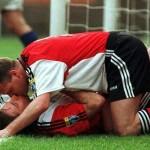 O gol do Rangers sobre o Inverness foi celebrado sem preconceitos entre Paul Gascoigne e Ally McCoist